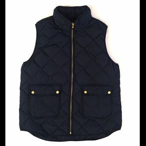 Woolrich Navy Down Feather Puffer Vest Size XL